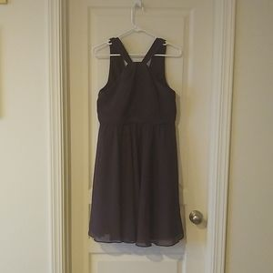 David's Bridal brown bridesmaid's dress